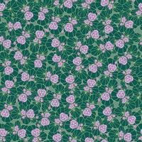 Floral seamless pattern with leaves and flowers vector