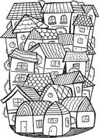Town Doodle Illustration vector