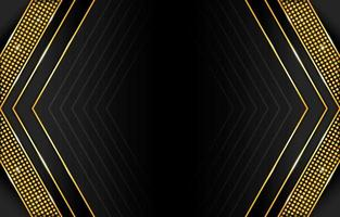Gradient Black and Gold Abstract Background vector