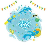Songkran Festival Holiday vector