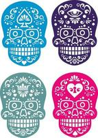skull and paisley, vintage design vector