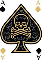 ace of spades with skull vector