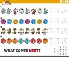 educational pattern game for children with comic characters