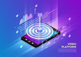 Isometric Digital Concept. vector