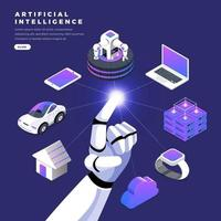 Isometric Artificial Intelligence vector