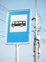 señal de parada de autobús foto