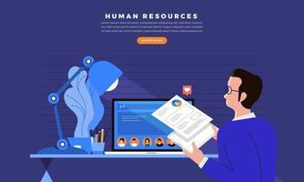 Human resources recruitment vector
