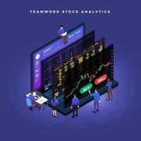 Isometric Data Analytics vector