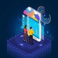 Analysis data mobile vector