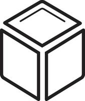 Line icon for cube vector
