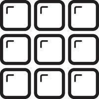 icono de línea para categoría vector