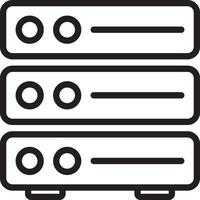 Line icon for server vector