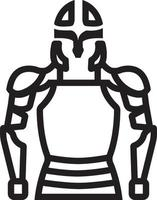 Line icon for armor vector