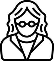 Line icon for teacher vector