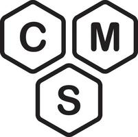 Line icon for cms vector