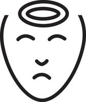 icono de línea para dolor de cabeza vector