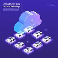 Isometric Cloud Technology vector