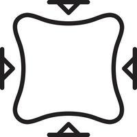 icono de línea para ajustes vector