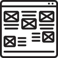 Line icon for ugly vector