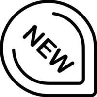 icono de línea para nuevo vector