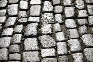 Cobble stone street photo