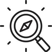 Line icon for discover vector