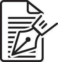 icono de línea para editorial vector