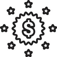 icono de línea para precios vector