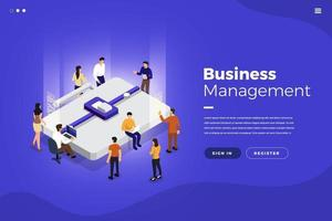 Isometric Business Management vector