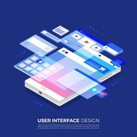 Isometric User Interface Design vector