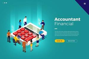Isometric Financial Accountant vector