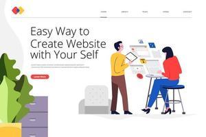 Landing page website vector