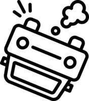 icono de línea para auto vector