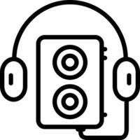 icono de línea para walkman vector