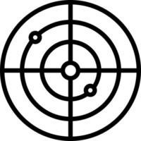 icono de línea de radar vector