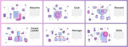 banner set digital marketing vector