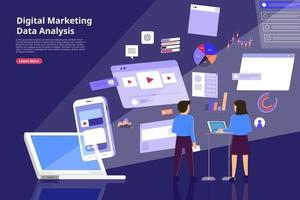 Digital marketing Analysis vector