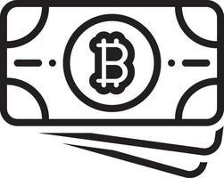 Line icon for bitcoin vector