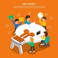 concepto de idea de trabajo en equipo vector