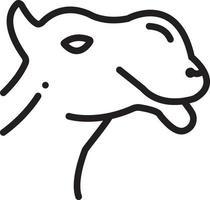 icono de línea para camello vector