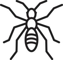 Line icon for ant vector
