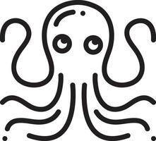 Line icon for octopus vector