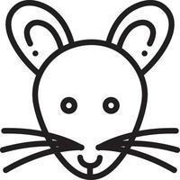 icono de línea para rata vector