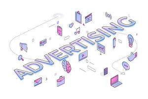 Business Word Advertising vector
