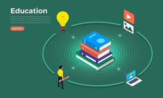 Education concept illustrations vector