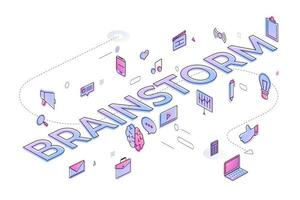 Business Word Brainstorm vector