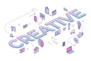 Business Word Creative vector