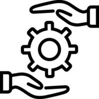 icono de línea para práctica vector