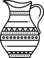 icono de línea para antigüedades vector