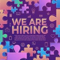 vector illustrations concept we are hiring